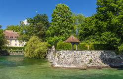 Summerhouse in a garden in Konstanz, Germany Stock Image