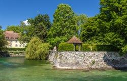 Summerhouse in a garden in Konstanz, Germany Stock Image