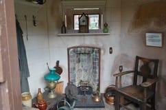 Summerhouse interior del ladrillo Foto de archivo libre de regalías