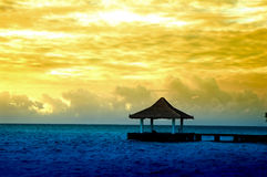 Summerhouse on ocean Royalty Free Stock Photography