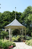 Summerhouse in Shakespeare Garden in Stratford. Old architectural style metal Gazebo in Startford, Ontario, Canada - Shakespeare Garden Stock Photo