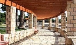 Summerhouse  in the Spanish style. Summerhouse  in the Spanish style on the Mediterranean coast Stock Photography