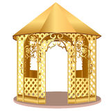 Summerhouse with winding ornament with flower Royalty Free Stock Photography