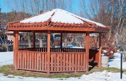 Summerhouse in winter Stock Photography