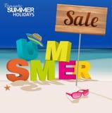 SummerLetters Stock Photo