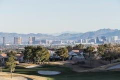 Summerlin grannskap av Las Vegas Nevada Royaltyfri Fotografi