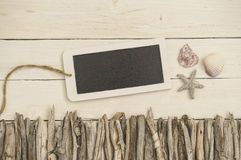 Summerly decorated wood background Royalty Free Stock Photography
