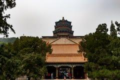 Summerpalace в Пекине Китае на пасмурном дне в мае стоковые фотографии rf