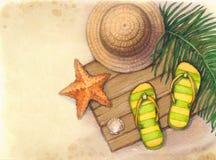 Summerr wakacje tło Fotografia Stock