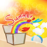 Summers box in holiday Royalty Free Stock Photos