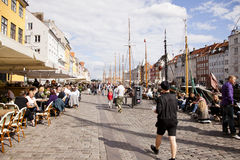 Summers day in Nyhavn Royalty Free Stock Images