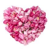 Summers flowers heart floral collage concept Royalty Free Stock Photos