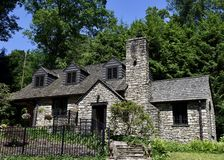 Summers House. This is a Spring picture of the Okey Summers House located in Charleston, West Virginia in Wanawha County.  This stone house was designed by Royalty Free Stock Image