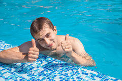 Summers at the poolside Stock Photography
