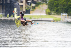 Summersault Wakeboarder Royalty Free Stock Photo