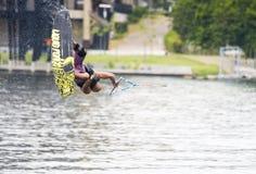 Summersault Wakeboarder Fotografia Stock Libera da Diritti