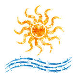SummerSUN. Abstract illustration of the Sun and Waves Stock Illustration