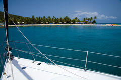 Summertime. A view from a sailboat near a island in the Vieques Sound stock photos