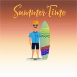 Summertime_avatar 免版税库存照片