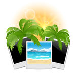 Summertime background with set photo frames Stock Photography