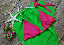 Summertime background, summer bikini Stock Photo
