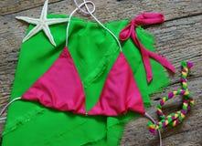 Summertime background, summer bikini Stock Images