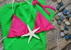 Summertime background, summer bikini Royalty Free Stock Images