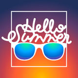 Summertime background with sunglasses and text Stock Photography