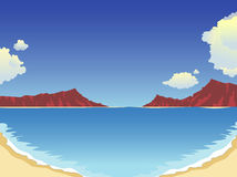 Summertime at the beach. Summertime at the Hawaii beach royalty free illustration