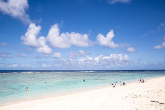 Summertime at the beach. beautiful beach and tropical sea. Guam Royalty Free Stock Images