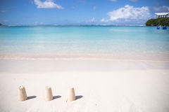 Summertime at the beach. beautiful beach and tropical sea. Guam Royalty Free Stock Photos
