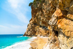 Summertime beach in Dalmatia, southern Croatia Stock Photography
