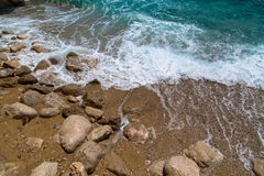 Summertime beach in Dalmatia, southern Croatia Stock Photo