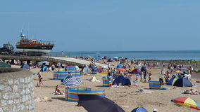 Summertime on a beach in Exmouth South West England Stock Images