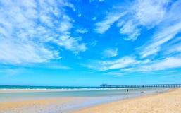 Summertime beach scene background Stock Images