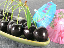 Summertime: black cherry royalty free stock image