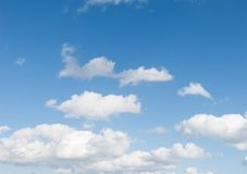 Summertime Blue Sky, with Clouds Stock Photo