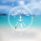 Summertime blurred sea beach background Stock Photography