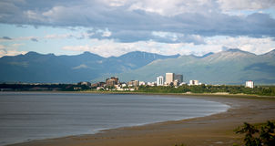 Summertime Bootleggers Cove Anchorage Alaska United States North royalty free stock images