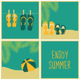 Summertime Cards Collection Royalty Free Stock Photography