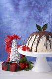 Summertime Christmas Ice Cream Plum Pudding. Stock Photo