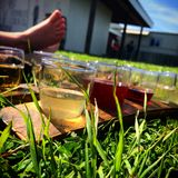 Summertime Cider. Welcome to California royalty free stock images