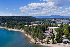 Summertime in Coeur d' Alene Royalty Free Stock Photo