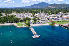 Summertime in Coeur d' Alene Royalty Free Stock Photography