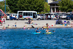 Summertime in Coeur d' Alene Stock Images