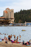 Summertime in Coeur d' Alene Royalty Free Stock Image