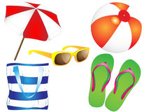 Summertime - collection Royalty Free Stock Image