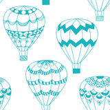 Summertime concept seamless pattern in doodle style. Stock Photo