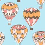 Summertime concept seamless pattern in doodle style. Stock Images