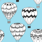 Summertime concept seamless pattern in doodle style. Royalty Free Stock Images